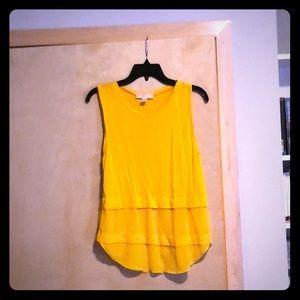Yellow Michael Kors party tank top